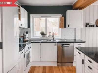 Before and After: A Luxe Redo Brings Lots More Storage to This Tiny Kitchen