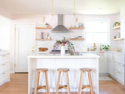 This Dreamy Designer IKEA Kitchen Reno Just Might Make You Rethink Pink